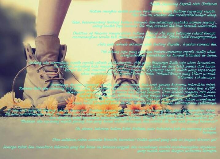 Puisi Balada Cerita Sepasang Sepatu