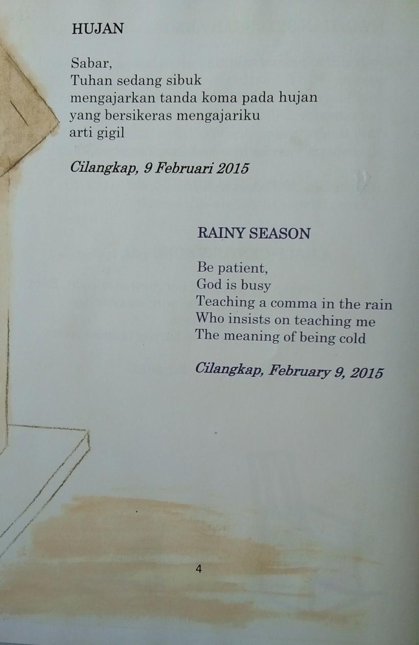 Membaca puisi Panyalai berjudul Hujan oleh Cinta1668