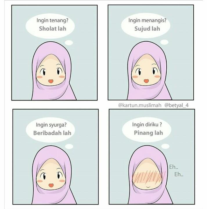 51 Gambar Kartun Muslimah Ikhlas HD