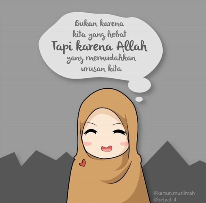 Gambar Sesi Pertanyaan Ig Kartun Muslimah Jawaban Cinta1668 Iya Benar Allah di Rebanas  Rebanas